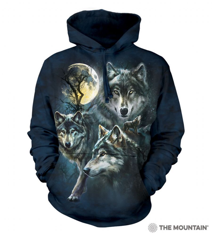 Moon Wolves Collage - Adult Hoodie Sweatshirt - The Mountain®